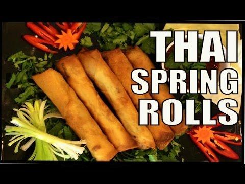 Thai Spring Rolls with Chicken & Vegetables.