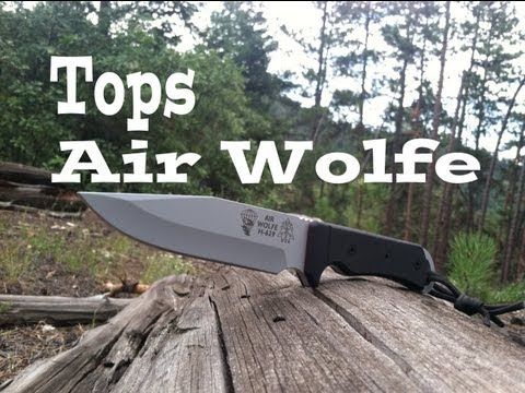 Tops Air Wolfe Knife Review: USA MADE SRK?