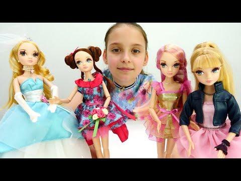 Видео для детей. Красивые куклы Sonya Rose. Показ мод