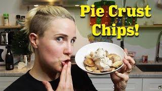 My Drunk Holiday Kitchen: Pie Crust Chips & Cinnamon Dip!