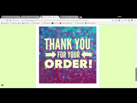 Creating An Online Order Form