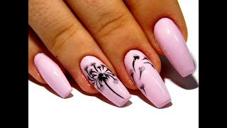 Красивый и простой дизайн ногтей. ТОП удивительные дизайны ногтей Цветок Одуванчик