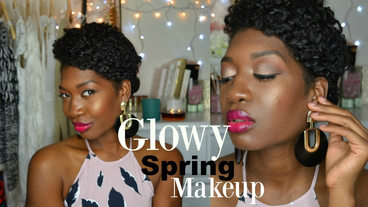 Spring glowy makeup tutorial 2016 loreal infalliable eyeshadow spring glowy makeup tutorial 2016 loreal infalliable eyeshadow bronze taupe dark skin youtube baditri Image collections
