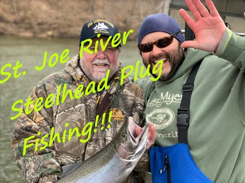 Steelhead Plug Fishing Berrien Springs  St. Joe River Michigan