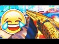 THE GOLDEN SHOTGUN... 😂 (Black Ops 3 DLC Weapons, Funny Moments & Reactions!)