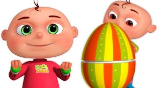 Repeat youtube video Five Little Babies Opening Surprise Eggs Mashup | Zool Babies Fun Videos