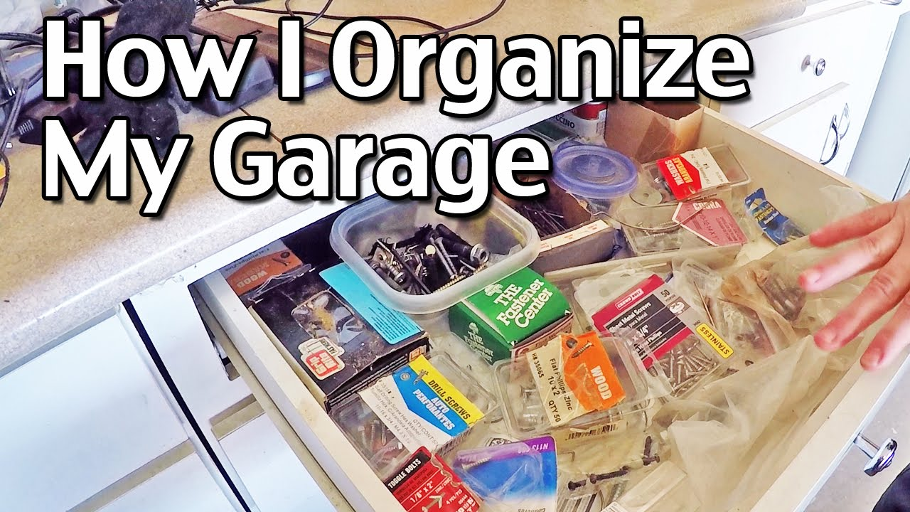 how i organize my garage how to organize your home part 5 youtube. Black Bedroom Furniture Sets. Home Design Ideas
