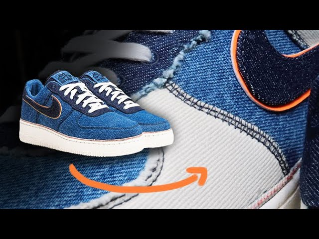 Bleach Distress Denim Nike Air Force 1 Sneakers Tutorial Youtube