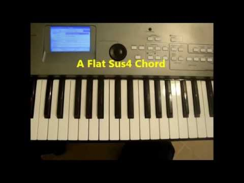 How To Play A Flat Sus4 Ab Sus 4 Chord On Piano And Keyboard Youtube