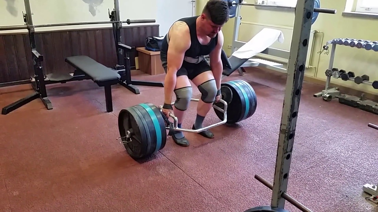 330 Kg 727 5 Lb Hex Bar Trap Deadlift Kreuzn