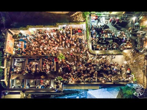 Single Fin Bali Sunday Night BIG PARTY from Drone by Indo Eye