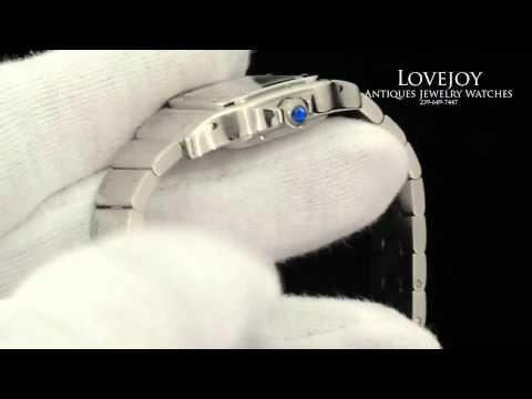 Cartier Santos Galbee Stainless Steel Ladies Watch
