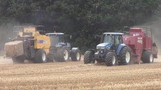 Harvest 2010: Big Time Balling 3x Ford Newholland + New Holland Big Baler