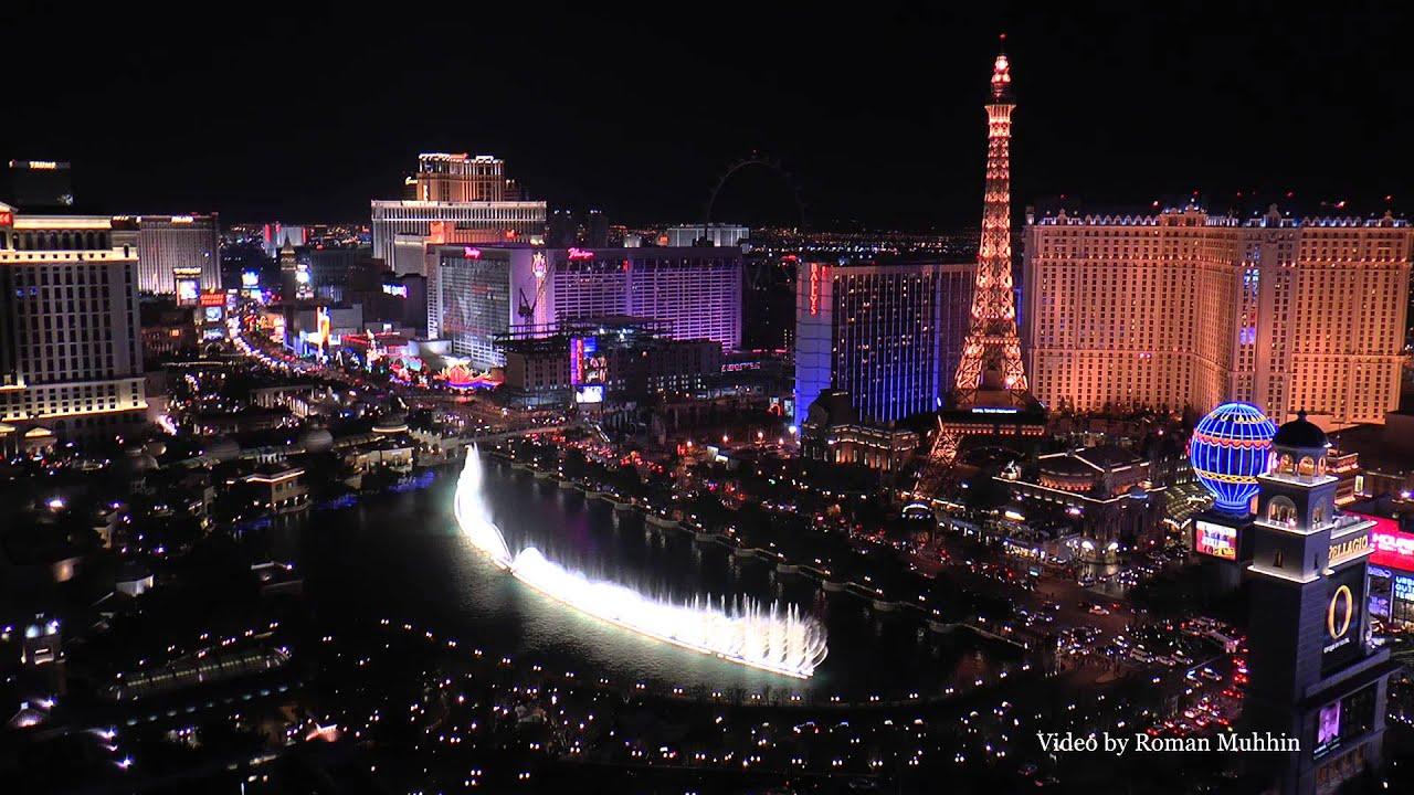 Las Vegas Bellagio Fountains Video From Balcony Cosmpolitan Hotel 1080p Hd Youtube