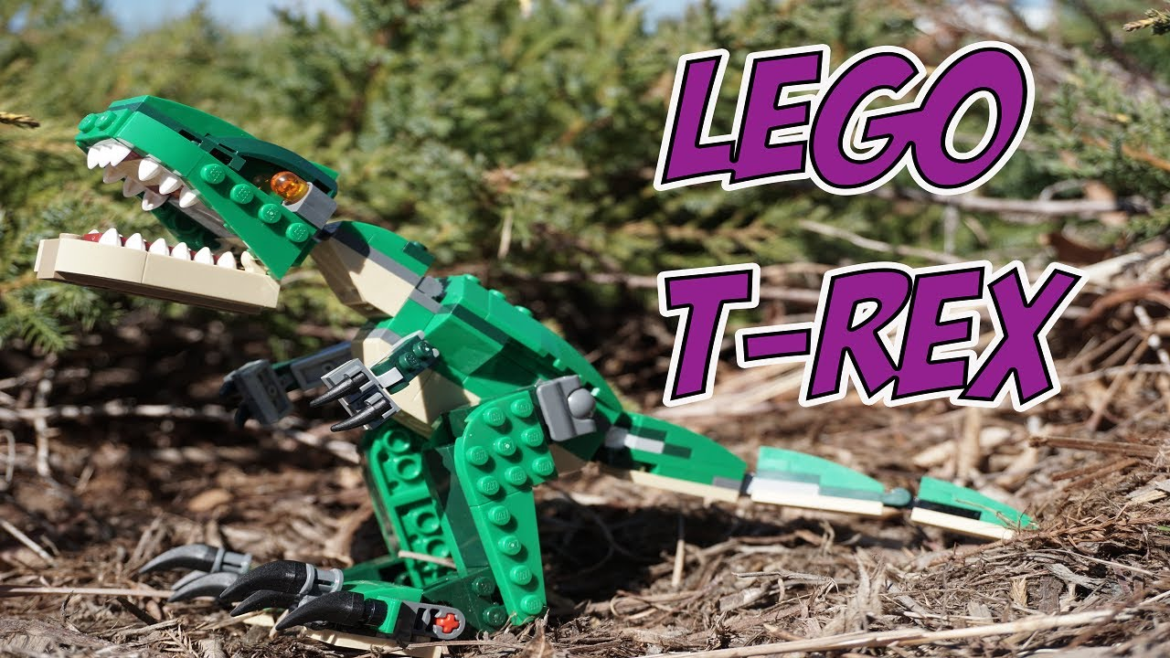 lego trex dinosaur adventures  youtube