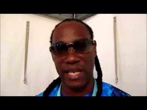 Thriller U backstage at Reggae Jam 2014