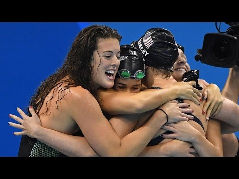 Allison Schmitt on Winning Gold in the 4x200m Freestyle Relay