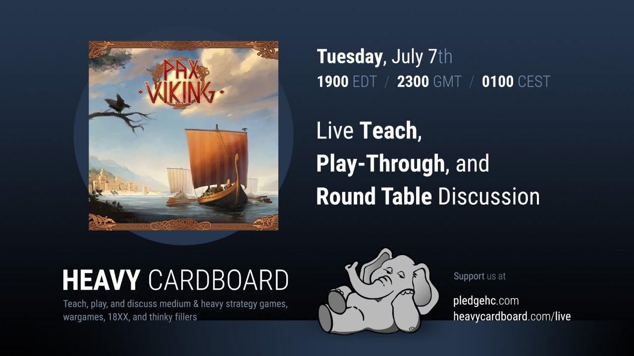 Pax Viking (TTS) 4p Teaching, Play-through, & Round table by Heavy Cardboard