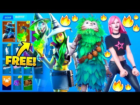 *NEW* All Leaked Fortnite Skins & Emotes..! *FREE ITEMS* (More Halloween Skins)