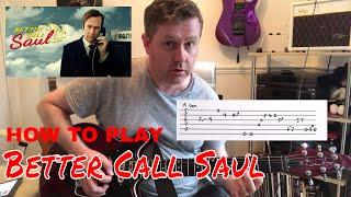 Скачать Better Call Saul Guitar Intro Lesson Guitar Tab