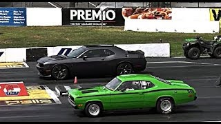 MOPAR: OLD vs NEW AMERICAN MUSCLE CARS DRAG RACING