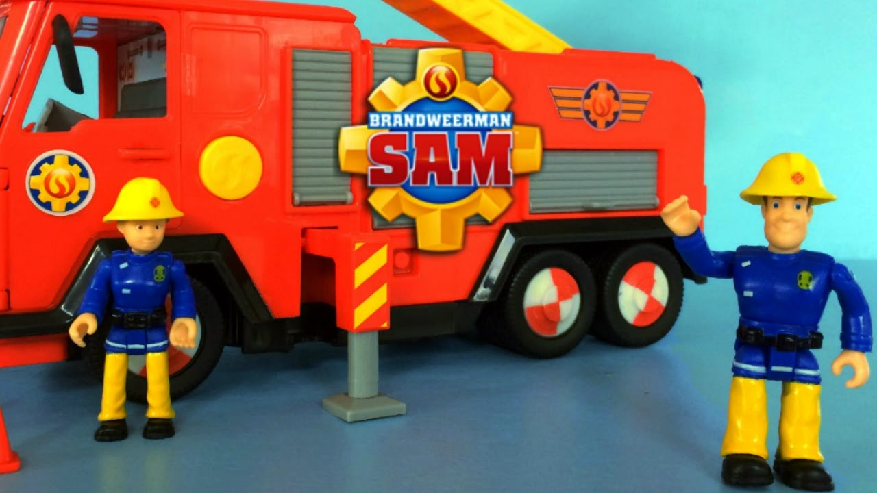fireman sam toys unboxing deluxe jupiter by simba