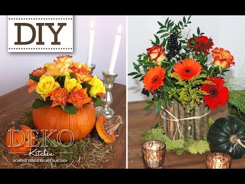 Diy vasen mit blechdosen f r h bsche herbst dekos deko kitchen youtube - Deko kitchen herbstdeko ...