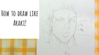 How to draw like Araki Hirohiko! (Jojo