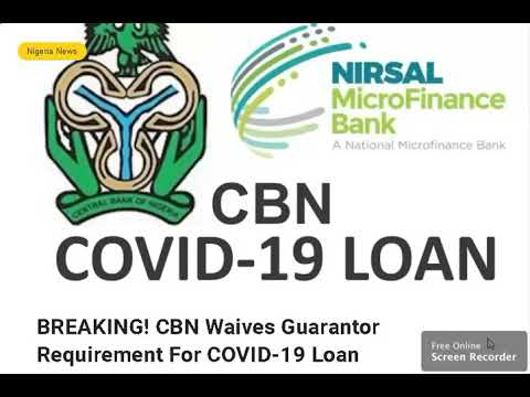 How To Apply For Nirsal Microfinance Covid 19 Loan Youtube