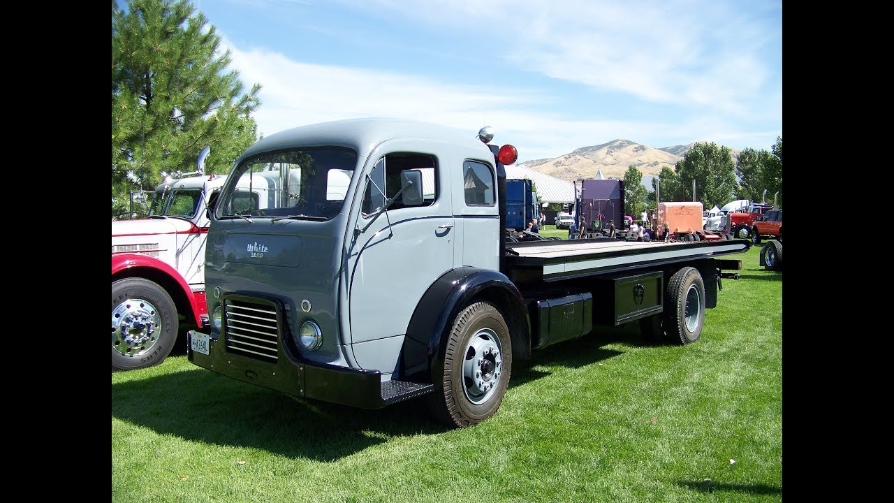 White 3000 Cabover Flatbed Car Hauler Great Salt Lake Truck Show 8-13-11