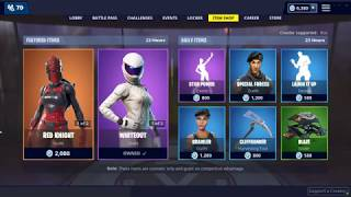 RED KNIGHT SKIN IS BACK! FORTNITE ITEM SHOP UPDATE TODAY LIVE JANUARY 23 2019