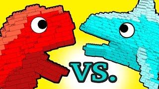 "LEGO! ""My Cute Shark Attack Cartoon"" #25 (LEGO Dino Vs. LEGO Shark! +BEST OF) kids cartoons!"