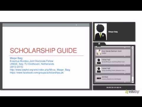Scholarship Opportunities Waqar Baig SN