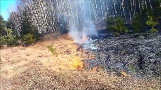 Pożar traw i lasu 05.03.2017r. Dojazd + akcja