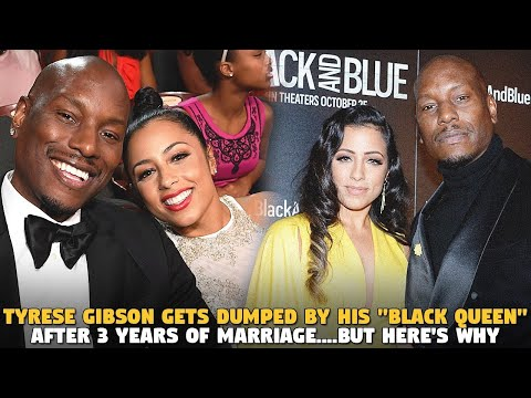 "Tyrese Gibson Gets Dumped By His ""BLACK QUEEN"" After 3 Years of Marriage....But Here'"