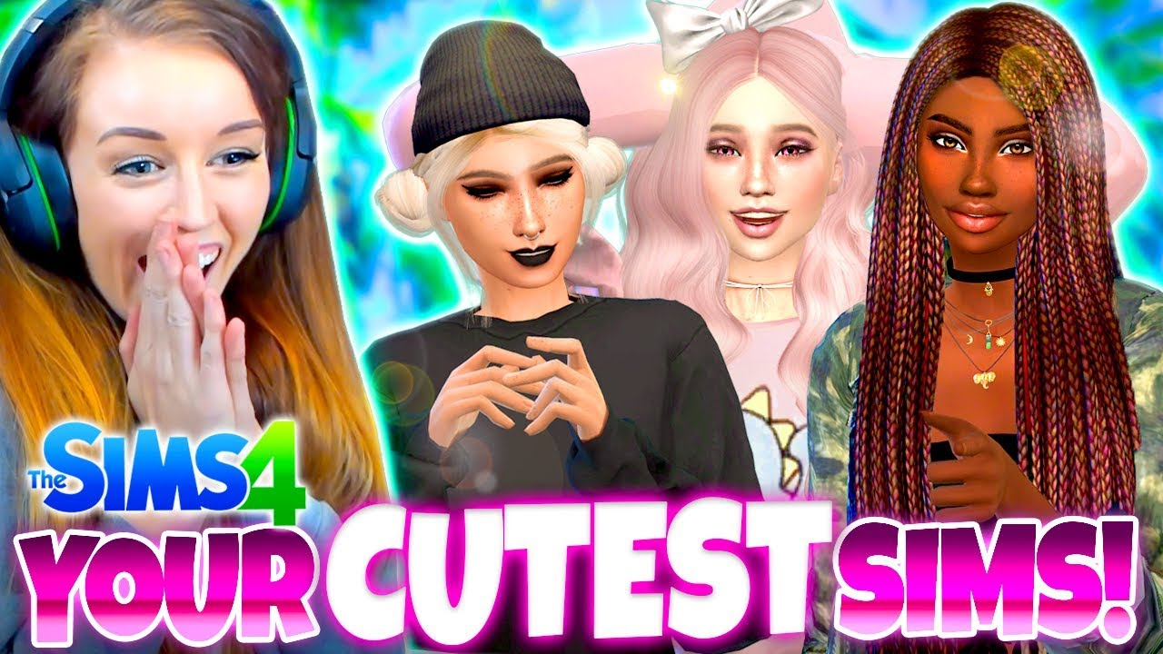 ADDING YOUR CUTEST SIMS! 😍 - Sims 4 CAS Challenge!
