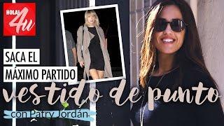 Saca el máximo partido a un vestido de punto   'Get the look' con Patry Jordán