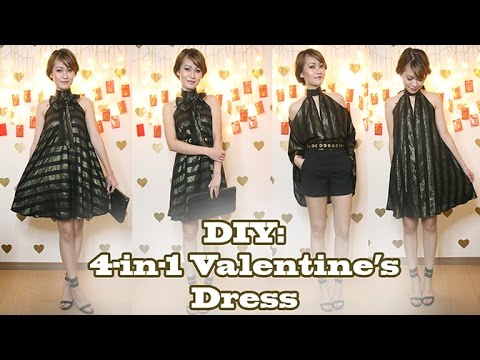 Diy 4 In 1 Valentine S Date Night Dress Youtube