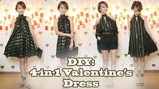 diy 4 in 1 valentine s date night dress