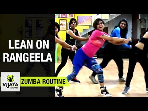 Zumba Routine on Lean on Rangeela Song | Zumba Dance Fitness | Choreographed by Vijaya Tupurani