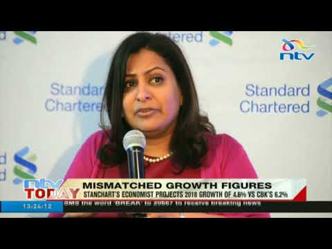 Stanchart's economist projects 2018 growth of 4.6% vs CBK's 6.2%
