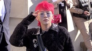 G Dragon and more arriving for the Chanel Ready to Wear Fashion Show