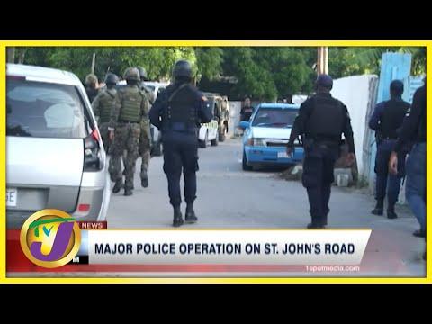 Major Police Operation on St. John's Road in Spanish Town | TVJ News - Oct 9 2021