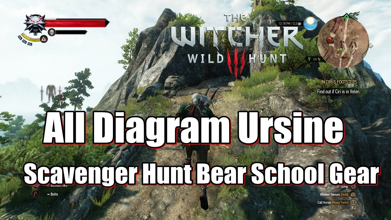 how to get scavenger hunt quest witcher 3
