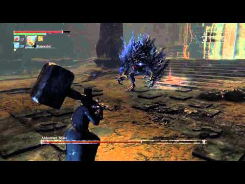 Bloodborne - Abhorrent Beast, depth 5, hit n' run tactic