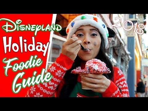 New! Ultimate Foodie Guide to The HOLIDAYS At Disneyland! 4k