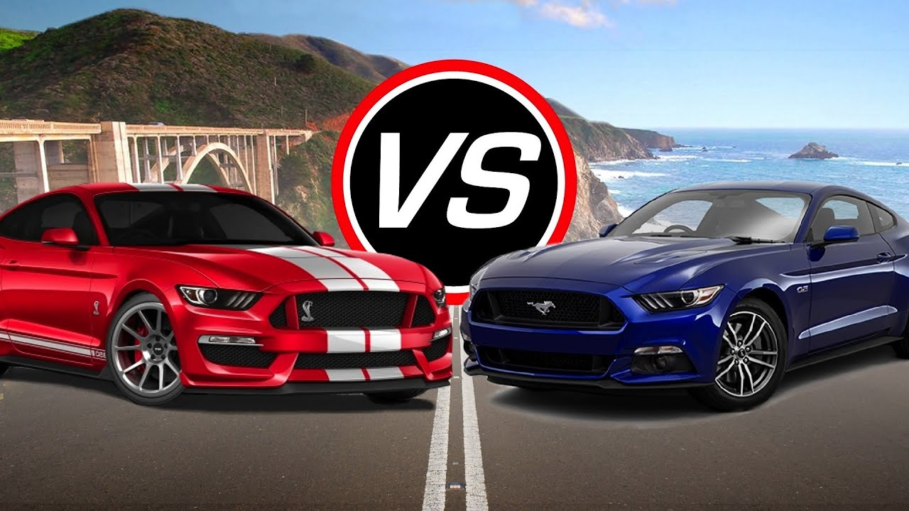 2016 Ford Mustang Shelby GT350 vs Mustang GT - Spec Comparison! - YouTube