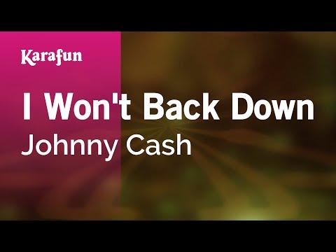 Karaoke I Won't Back Down - Johnny Cash *