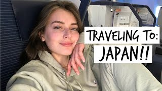 FIRST CLASS Flight to Japan! | Jess Vlogs