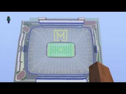 Michigan Stadium in Minecraft